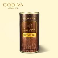 美国进口高迪瓦GODIVA歌帝梵黑巧克力可可粉410g 巧克力粉罐装 冲饮生日礼物