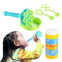 儿童手动吹泡泡玩具幼儿园小男孩女孩宝宝户外音乐泡泡机补充液