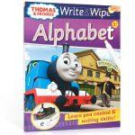 进口英文原版绘本 可擦写:托马斯和朋友们系列Thomas Wipe & Write Alphabet 字母书 低幼儿童