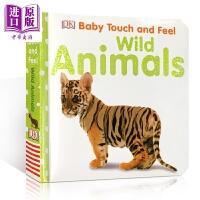 【中商原版】DK触摸启蒙 野生动物 Baby Touch and Feel Wild Animals 词汇认知启蒙 早教