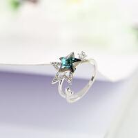 戴拉饰品 星星开口食指戒指女 简约人个性指环