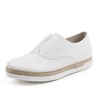 Tata/他她春季专柜同款牛皮时尚休闲平跟女单鞋2OO20AM6 专柜2