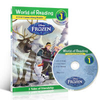 英文原版绘本 World of Reading: Frozen: 3 Tales 冰雪公主奇缘3合1附CD Disne