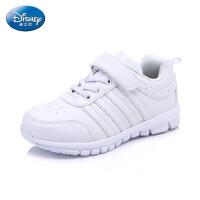 迪士尼新款正品中大童鞋男女童运动鞋时尚小白鞋儿童学生鞋板鞋 DS2076