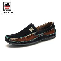 APPLE/美国苹果新款户外流行时尚驾车鞋英伦潮鞋韩版拼色豆豆鞋 11731