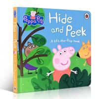 英文原版绘本 Peppa Pig: Hide and Peek 小猪佩奇捉迷藏 躲猫猫 纸板翻翻书佩佩猪 粉红猪小妹