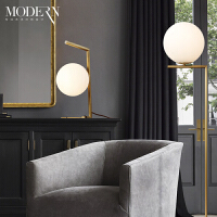现代简约卧室床头客厅书房灯具美式创意北欧落地灯