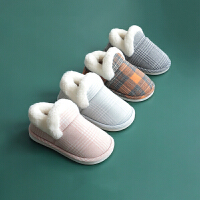 儿童棉拖鞋女童可爱冬天保暖新款 2-8岁毛毛室内包跟防滑棉拖鞋
