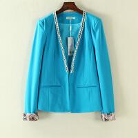 冬装女新 韩国站链条装饰休闲西服女士长袖外套女