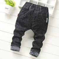 男童牛仔裤加厚加绒秋冬款宝宝裤子儿童保暖棉裤0-1-2-3-4-5-6岁