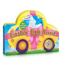 儿童英文原版 Easter Egg Hunt 复活节彩蛋 节庆日绘本 纸板书撕不烂 车形 趣味玩具书 低幼儿童亲子绘本