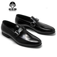 米乐猴 潮牌英伦韩版小圆头商务正装皮鞋 潮男商务男士皮鞋男鞋