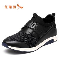 红蜻蜓208男鞋新款男士套脚休闲皮鞋户外运动休闲鞋子