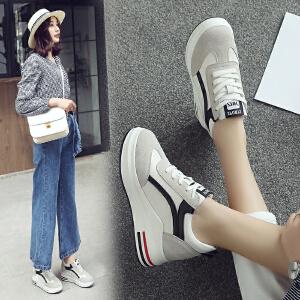 ZHR2018春季新款韩版运动鞋百搭小白鞋内增高女鞋平底休闲鞋单鞋AH27