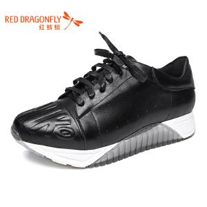 红蜻蜓女鞋秋冬休闲鞋板鞋女鞋子WFB6506