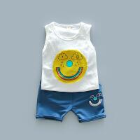 男童夏款无袖背心套装中小童运动短裤两件套儿童休闲新款套装