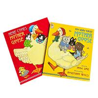 顺丰包邮 英文原版点读版鹅妈妈童谣 My Very First Mother Goose 2册套装 廖彩杏书单0-5岁