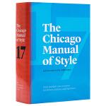 【中商原版】芝加哥风格手册(第17版)英文原版 The Chicago Manual of Style 英语论文写作规