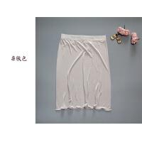 出口女士真丝针织蕾丝花边半身裙桑蚕丝真丝衬裙打底裙睡裙