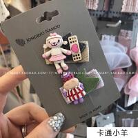 韩国儿童发饰可爱卡通蝴蝶结发夹刘海边夹鸭嘴夹BB夹