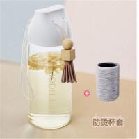 玻璃杯水杯女便携创意潮流简约可爱清新情侣学生茶杯杯子礼品