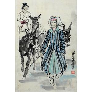 黄胄 中国画艺术大师 《归》