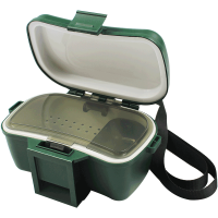 渔具背带腰挂式保温活饵活虫盒红虫蚯蚓盒饵料配件盒垂钓用品