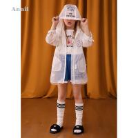 【3件3折:111】安奈儿童装女童皮肤衣薄夏装新款国潮洋气连帽防晒衣沙滩外套