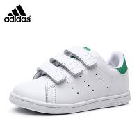 【超品秒杀价:299元】阿迪达斯adidas童鞋17秋季三叶草系列小白鞋婴童宝宝学步鞋男孩运动鞋 BZ0520 白/骑