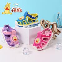 迪士尼小熊维尼童鞋 宝宝学步鞋2017夏季新款儿童凉鞋婴儿鞋 软底宝宝鞋