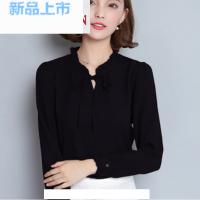 2017新款大码女装秋装雪纺衫女长袖时尚打底衫韩版T恤女上衣衬衫