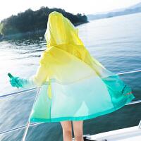 防晒衣中长款女士夏季新款长袖百搭户外沙滩防晒服防紫外线轻薄外套