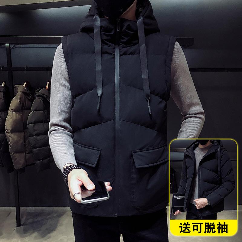 羽绒马甲男士冬季韩版潮流修身无袖秋冬棉衣加热保暖休闲背心坎肩 发货周期:一般在付款后2-90天左右发货,具体发货时间请以与客服协商的时间为准