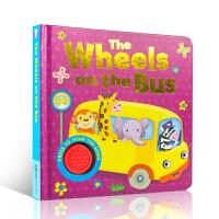 英文原版绘本 有声童谣绘本Song Sounds the Wheels on the Bus 廖彩杏儿歌童谣伴奏有声纸