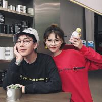 情侣卫衣2018春装新款韩版学生宽松套头卫衣青少年班服外套潮