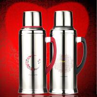 结婚暖壶保温瓶304不锈钢内胆热水瓶暖壶 结婚家用暖水瓶大容量保温壶 2200毫升红色(不锈钢内胆)