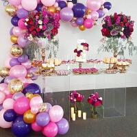 结婚装饰气球派对生日布置气球链条软拱门背景墙装饰草坪婚礼道具