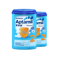 【当当自营】 德国原装进口Aptamil爱宝美较大婴儿配方奶粉2段(6-12个月)800g*2