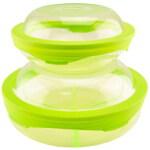 360°硅胶盖 鲜乐仕保鲜盒2件套(4P)SQ-0401 新芽绿