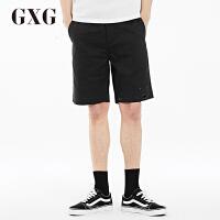 GXG短裤男装 夏季男士时尚潮流修身气质都市黑色休闲斯文短裤男潮