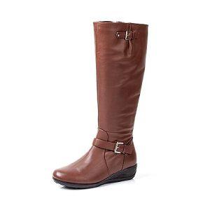 Tata/他她专柜同款牛皮女靴FYX82DG5