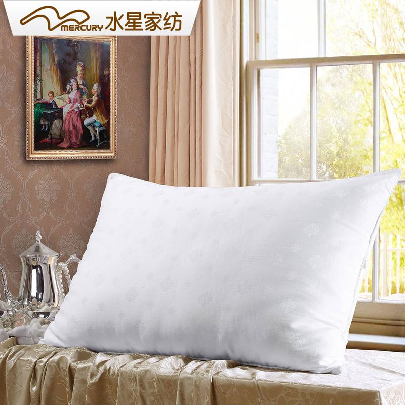 水星家纺蚕丝枕头成人枕芯一只装单人家用睡眠桑蚕丝枕芯丝丝心动