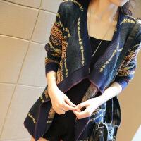 【羊绒】针织衫女秋开衫外搭披肩毛衣短款修身长袖外套春秋季 花色