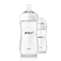 美国直邮 Avent 新安怡 自然系列 聚丙烯奶瓶 11oz 2个装 海外购