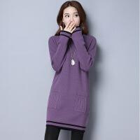 秋装新款韩版毛衣女套头中长款羊绒衫宽松针织羊毛打底衫秋冬外套
