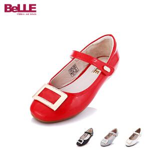 【179元任选2双】百丽Belle童鞋春秋季中大童亲子鞋女童单鞋公主鞋 DE0331