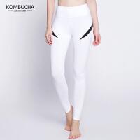 【限时狂欢价】Kombucha瑜伽健身裤女士速干透气显瘦翘臀紧身高弹力九分裤运动健身跳操打底长裤K0274