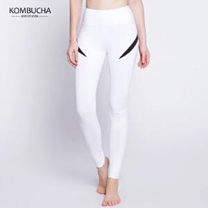【限时特惠】KOMBUCHA瑜伽裤2018新款女士速干透气显瘦翘臀紧身高弹力九分裤瑜伽跑步健身打底长裤K0274