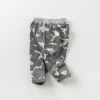 [2件3折价:65.1]戴维贝拉童装春季新款男童休闲长裤 宝宝迷彩裤子DB9918