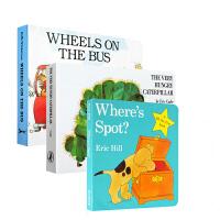 英文原版绘本 wheels on the bus/ Where's Spot?/The Very Hungry Cat